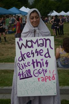 What a woman is wearing does not mean she's asking to be a rape victim.
