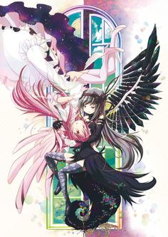 Madoka Magica goddess Madoka and devil Homura