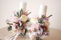 lumanari cununie religioasa bucuresti Wedding Stuff, Wedding Flowers, Weeding, Pastel, Table Decorations, First Holy Communion, Weddings, Grass, Cake
