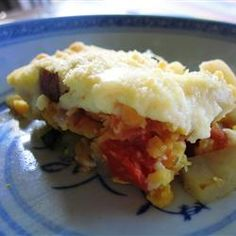 Vegetarian Moussaka Allrecipes.com - w/o lentils. add more eggplant and potatoes