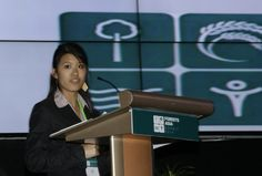 Yi Ying Teh at the Forests Asia Youth Session in Jakarta, Indonesia