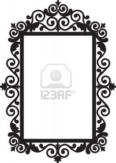 Antique frame Stock Photo