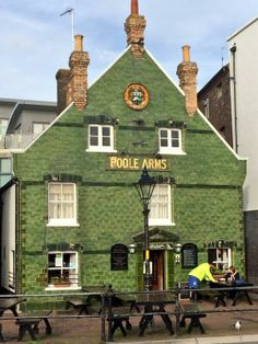 The Poole Arms on The Quay is one of the few remaining buildings clad in Carter & Co of Poole tiles.
