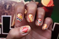 Aztec Blanket Nail Art  Nail Decals by NailSpin on Etsy, $5.00