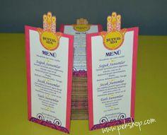 Size özel tasarım menü kartları. Detayli bilgi ve siparis www.pekshop.com