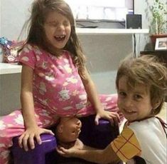 Youngest Mother Ever. Kids Play with Childbirth.: I think these kids might have watched a few videos or seen a live childbirth or two. Doula, Seriously Funny, Backyard For Kids, Backyard Ideas, Kids Playing, Cute Kids, Album, Funny Jokes, Funny Pictures