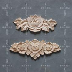 Dongyang sculpture sur bois mode bois massif sculpté meubles armoire décoration sculpture copeaux de bois cms rose patch en relief(China (Mainland))