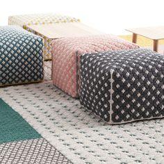 #Silaï est une collection de #tapis et de #poufs, créée par #CharlotteLancelot pour la marque #GandiaBlasco. #color #design#silvera #silveractu #silveraeshop