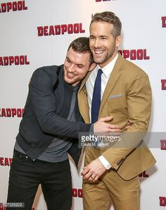 Ryan Reynolds And Ed Skrein. There's so much pretty in this picture. I can't handle it.