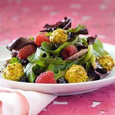 Pistachio Berry Goat Cheese Salad