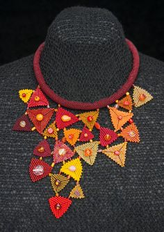 FIRE LAKE necklace by KrisDesignFSP on Etsy - 225.00