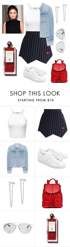 """Untitled #294"" by miiirrra ❤ liked on Polyvore featuring Chicwish, rag & bone, adidas Originals, OUTRAGE, Anne Sisteron, Jack Rogers and Christian Dior"