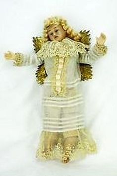 Beautiful Antique Wax Angel                                                                                                                                                                                 More