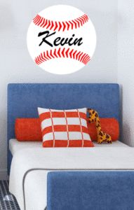 Baseball Monogram Stencil. Perfect for that child who loves sports!