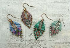 Linda's Crafty Inspirations: Russian Leaf Earrings - Four More Samples