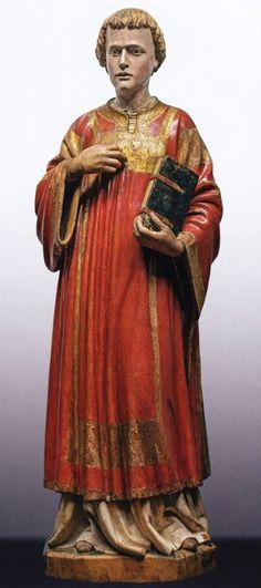 Francesco di Valdambrino (1363 - 1435).  St. Stephen - wood with polychrome and gilding.  c. 1409