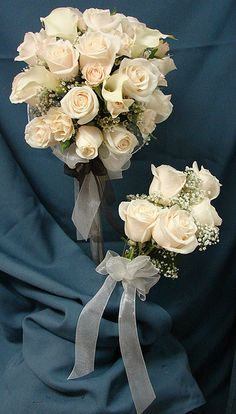 White Rose Wedding Bouquets by Westosha Floral, via Flickr