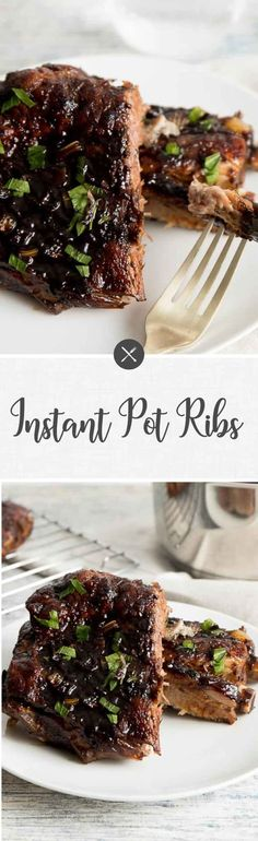 Take the hassle out of ribs by making them in the Instant Pot! Perfectly cooked ribs every single time and smothered in a tangy homemade BBQ sauce.