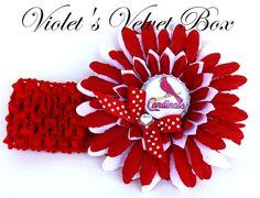St. Louis Cardinals headband http://www.etsy.com/listing/123128666/st-louis-cardinals-bow-headband-baby