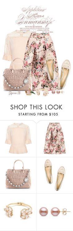 """""""Florals"""" by zipora-b ❤ liked on Polyvore featuring Tanya Taylor, Ted Baker, Miu Miu, Charlotte Olympia, Kate Spade and Les Néréides"""