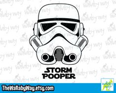 Star Wars Storm Trooper Storm Pooper - Disney Vacation Shirt Design or Clipart Disney Vacation Shirts, Disney Vacations, Birthday Design, Disney Star Wars, Sewing Projects For Beginners, Birthday Shirts, Disney Characters, Fictional Characters, Shirt Designs