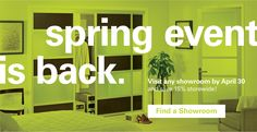 Spring into savings with 15% off on all purchases made on #SlidingDoorCo!  bit.ly/1IR8Ll7