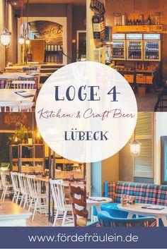 Essen gehen in Lübeck? Probiere unbedingt die Loge 4 - Kitchen & Craft Beer aus! Alle Infos auf www.fördefräulein.de!