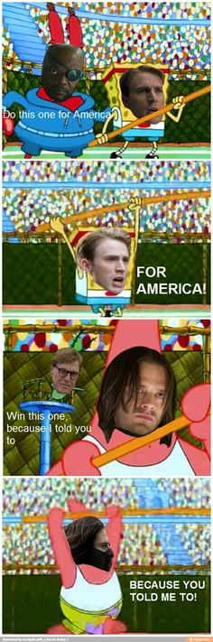 I just watched Captain America: The Winter Soldier so you must forgive me.