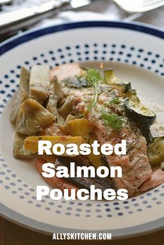 There are so many things I love about this recipe for roasted salmon pouches. Let me count the ways! Easy. Healthy. Simple. Elegant. Boholicious! #easysalmon #salmonrecipe Healthy Meals For Kids, Good Healthy Recipes, Quick Easy Meals, Kids Meals, Easy Recipes, Healthy Snacks, Dinner Recipes, My Favorite Food, Favorite Recipes