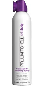 Extra-Body Finishing Spray®  Volume and Shine    Helps fight frizz, add shine and secure hard-to-hold hair. Provides a bodifying boost so hair looks and feels thicker. Dries instantly without flaking or stickiness.  Panthenol and hydrolyzed wheat protein build body.