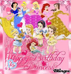 Disney Princess Happy Birthday Graphics | Happy Birthday Princess Fotografía #125081484 | Blingee.com Birthday Wishes Flowers, Birthday Wishes For Kids, Birthday Wishes Messages, Happy Birthday Celebration, Happy Birthday Greetings, Happy Birthday Princess Images, Happy Birthday Baby Girl, Happy Birthday Pictures, Princess Birthday