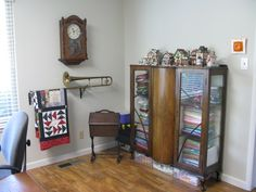 What!? Trombone Quilt Rack! Love!!!! | Sewing Room Inspiration ...