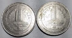 TRUMP PLAZA $1 GAMING TOKEN LOT OF 2-ON THE BOARDWALK ATLANTIC CITY-FREE US SHIP
