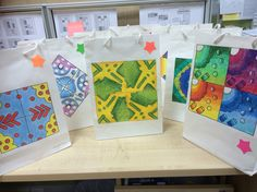 Sec 1 Pattern making paper bags based on Childhood Snacks