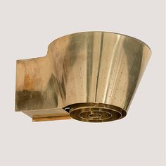 Paavo Tynell; #9465 Brass Wall Light for Taito Oy, 1940s.