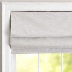 Pottery Barn Teen Classic Linen Roman Shade, 48 x 64, Gray