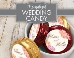 A lovely bouquet of flowers coupled with script lettering shares your grace and wedding elegance, and the wine and gold foil will compliment your floral theme. Fall Wedding Colors, Wedding Flowers, Peach Wine, Bouqets, Belgian Chocolate, Script Lettering, Floral Theme, Oreo Cookies, Beautiful Love