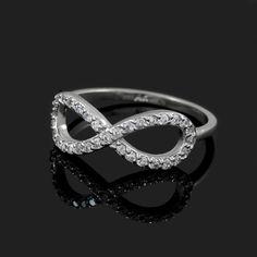 White Gold Diamond Infinity Ring Yellow Gold Rings, White Gold Diamonds, Rose Gold Infinity Ring, Infinity Rings, Commitment Rings, Mother Rings, Personalized Rings, Birthstone Jewelry, Gemstone Rings