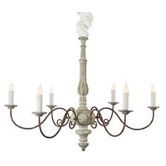 Avignon Chandelier in French Blue (1,360 CAD) ❤ liked on Polyvore featuring home, lighting, ceiling lights, avignon, fake chandelier and faux chandelier