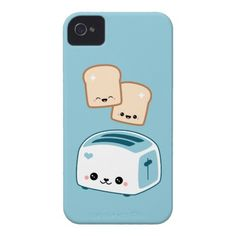 Cute Toast iPhone 4 Case-Mate Cases