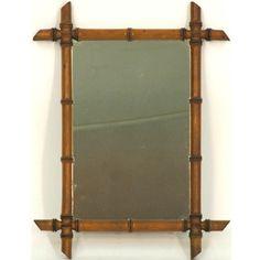 Bamboo framed mirror for our Safari/jungle themed bathroom