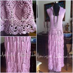 Marisa Tricot Crochet e Acessórios: Vestido Crochet Abacaxis