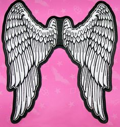 LETHAL ANGEL WINGS Motorcycle Vest BACK PATCH  NEW