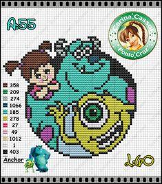 Monsters Inc. perler bead pattern by Carina Cassol - http://carinacassol.blogspot.de/