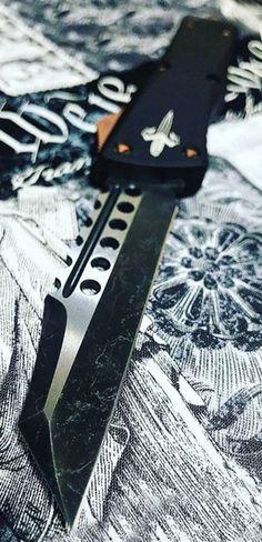 Marfione Custom Combat Troodon Warhound OTF Knife Brass Ring HW