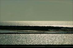 Het IJsselmeer, vanaf de dijk Lelystad naar Enkhuizen...