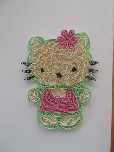 hello kitty. an idea to do other characters in a similar way. I can do this.