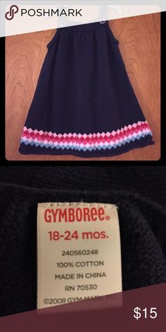 Gymboree Navy Sweater Dress. Size 18-24M Gymboree Navy Sweater Dress with diamond detail on the bottom and buttons. Size 18-24M. Gently used. Gymboree Dresses Casual
