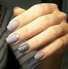 Pastel Grey with a bit of Bling!