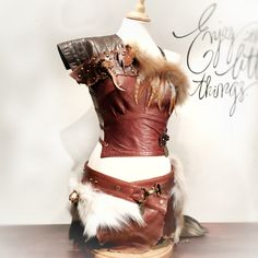 """""""VIKING"""" Leather armor and skirt  perfect costume for Festivals - Burning man - Postapocalyptic - Tribal - Wasteland - MadMax"""